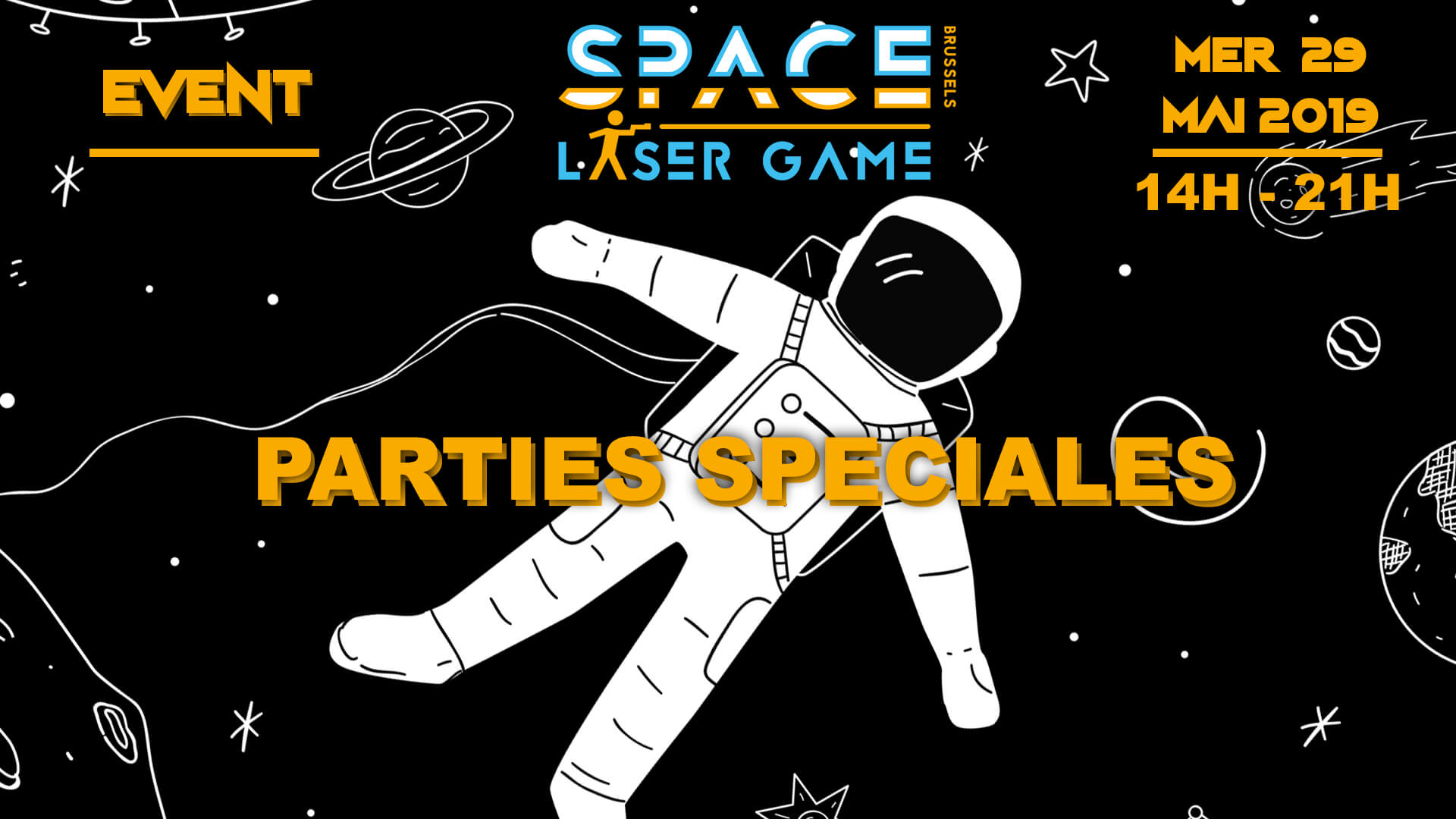 Special Parties Promotion Space Laser Game Bruxelles